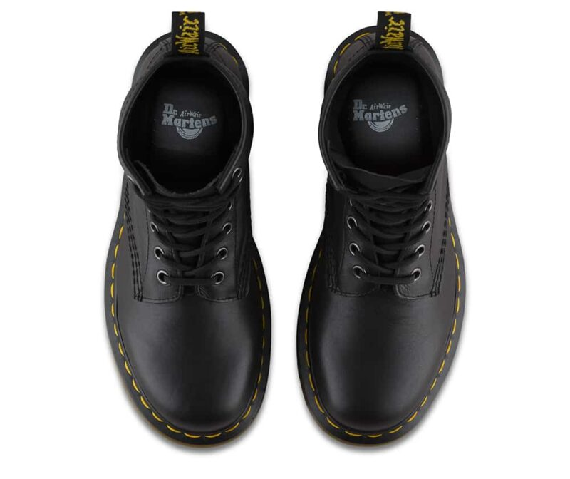 1460/11822002 Black Nappa 8-Eye Boot 6