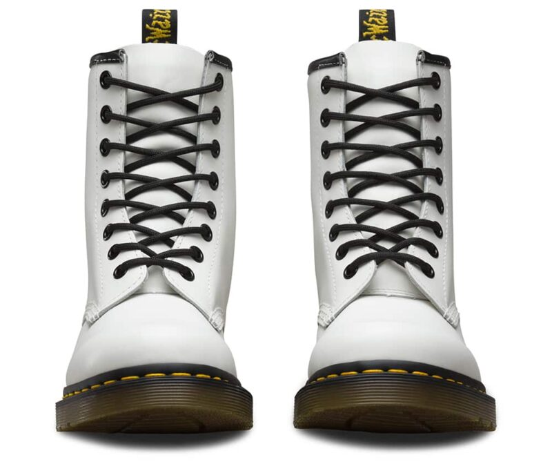 Dr. Martens 1460 White Smooth 8-Eye Boot 2