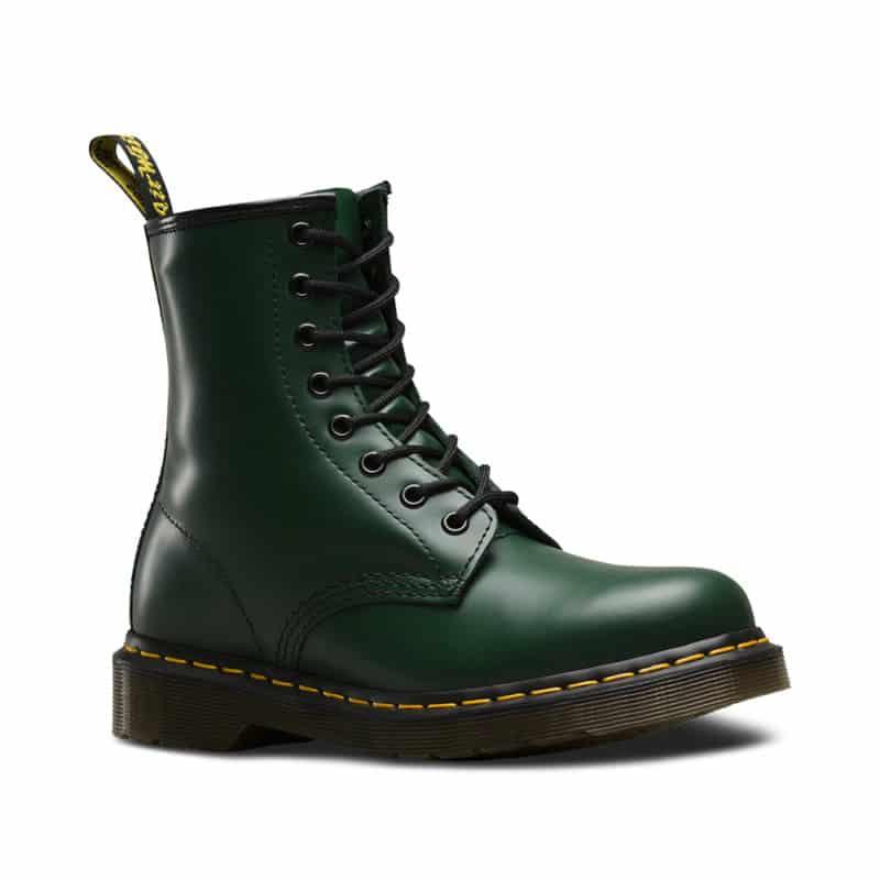 1460 Green Smooth 8-Eye Boot