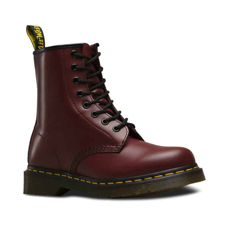 1460/11822600 Cherry Red Smooth 8-Eye Boot