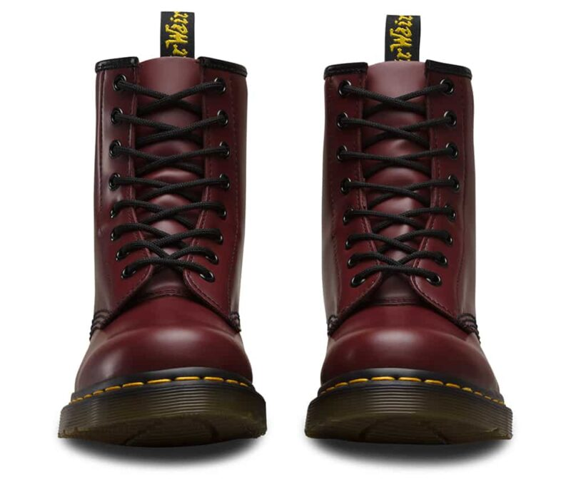 Dr. Martens 1460 Cherry Red Smooth 8-Eye Boot 2