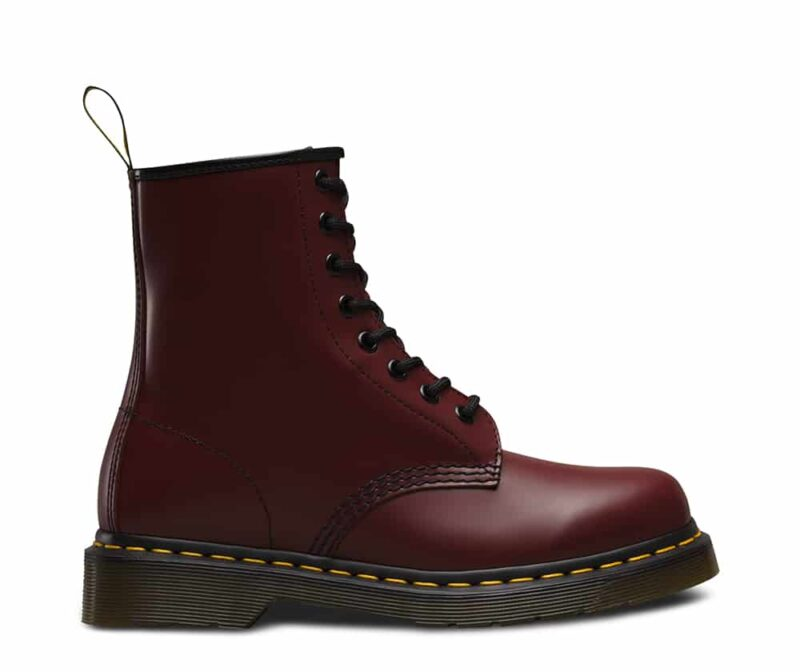 1460/11822600 Cherry Red Smooth 8-Eye Boot 1