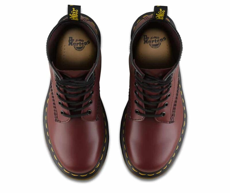 1460/11822600 Cherry Red Smooth 8-Eye Boot 6