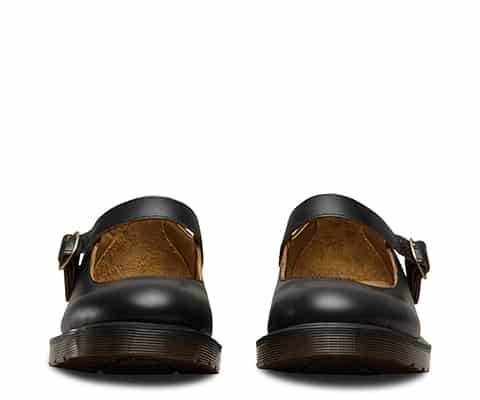 16510001 Indica Black Vintage Smooth Mary Janes 3