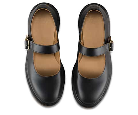 16510001 Indica Black Vintage Smooth Mary Janes 6