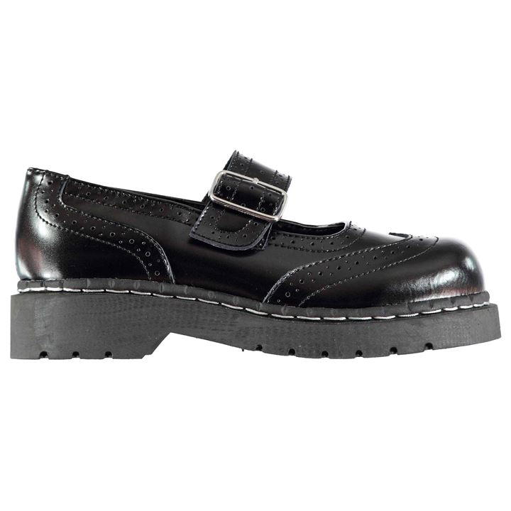 TUK Black Brogue Mary Jane T1002 3