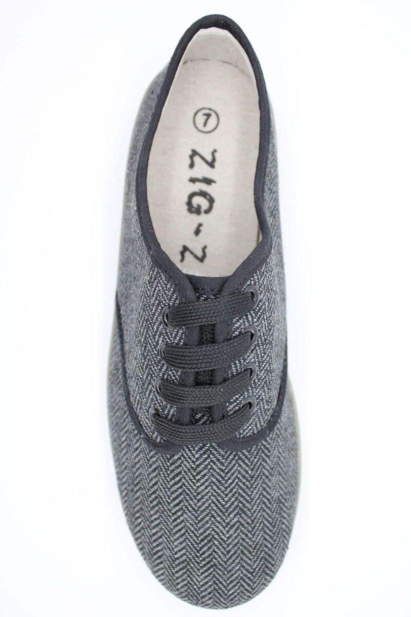 Zig Zag Wino Shoes Herringbone Gray/Gum Sole 7210 2