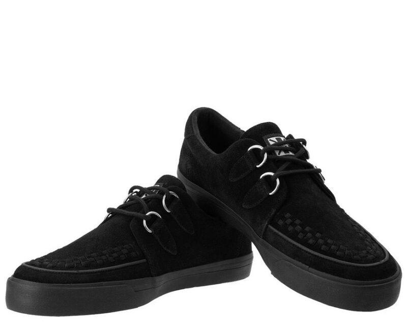 TUK Black Suede Sneaker Creeper A9178 1