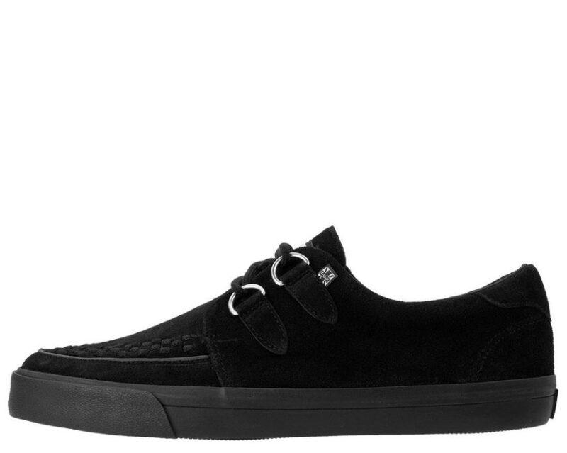 TUK Black Suede Sneaker Creeper A9178 2