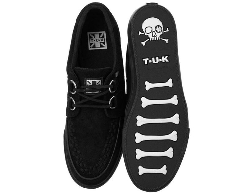 TUK Black Suede Sneaker Creeper A9178 3