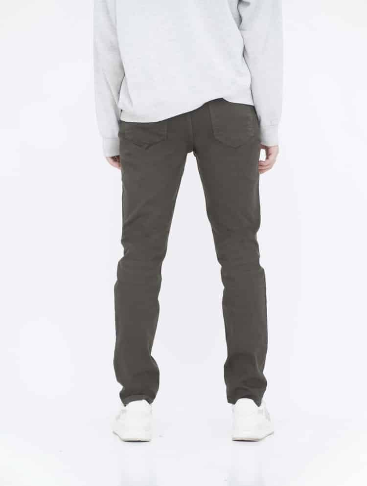 Army Green Skinny Jeans back