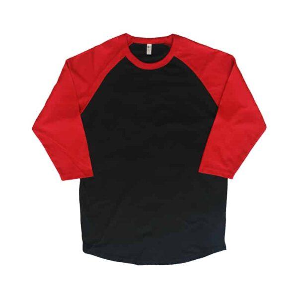 Red and Black Baseball Tee