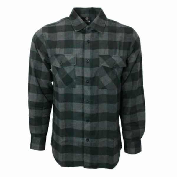 Black and Gray Checkered Flannel