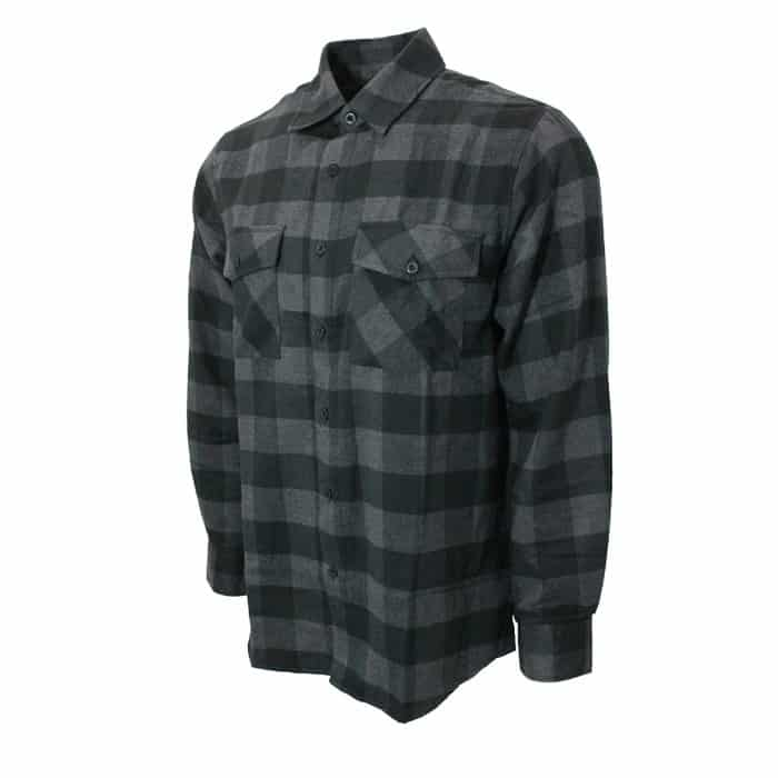 Black and Gray Checkered Flannel 1