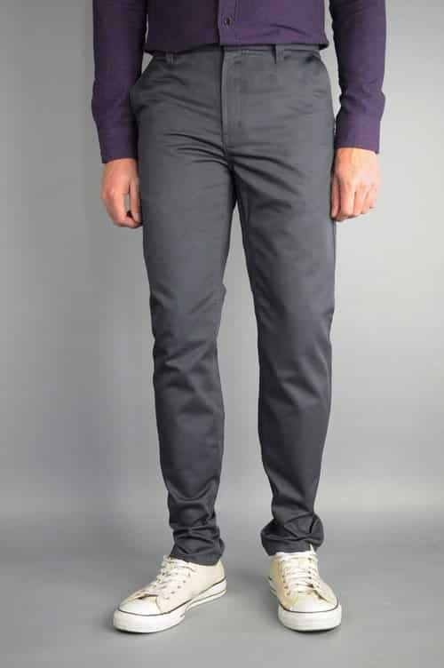 Charcoal Chino Pants by Neo Blue Pants Premium