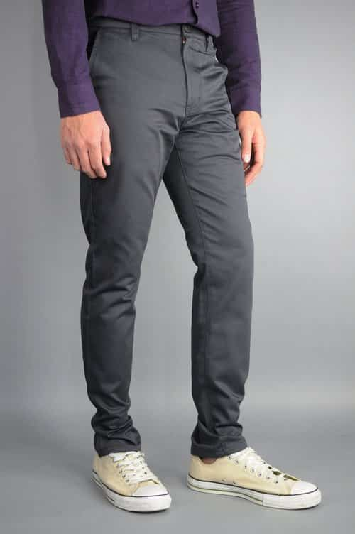 Charcoal Chino Pants by Neo Blue 1