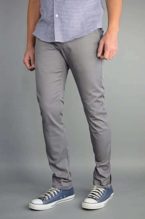 Gray Chino Pants by Neo Blue 1