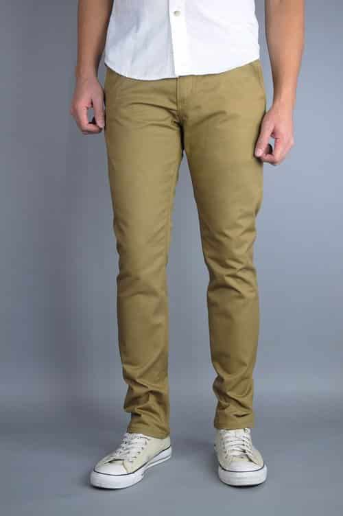 Khaki Chino Pants by Neo Blue Pants Premium