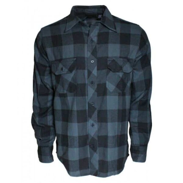 black gray buffalo plaid flannel