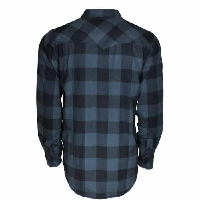 Black and Gray Plaid Flannel Shirt 1