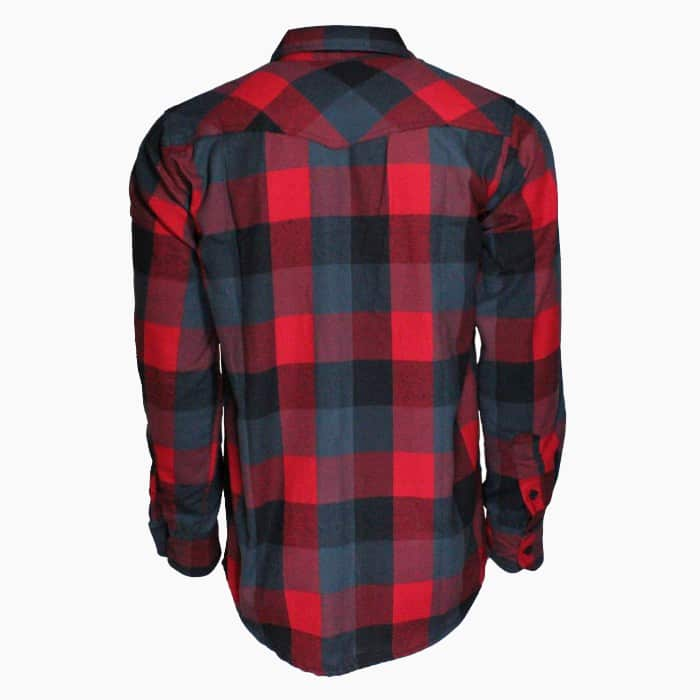 Red and Gray Plaid Flannel Shirt 1