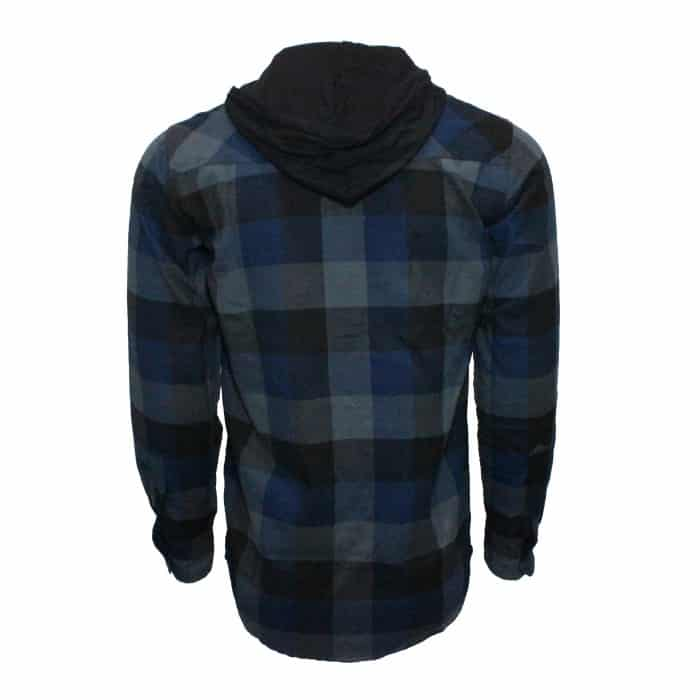 Navy and Charcoal Hooded Flannel 1