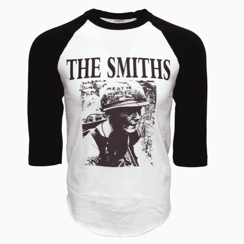 The Smiths Band Meat is Murder Raglan Baseball Tee White/Black 1