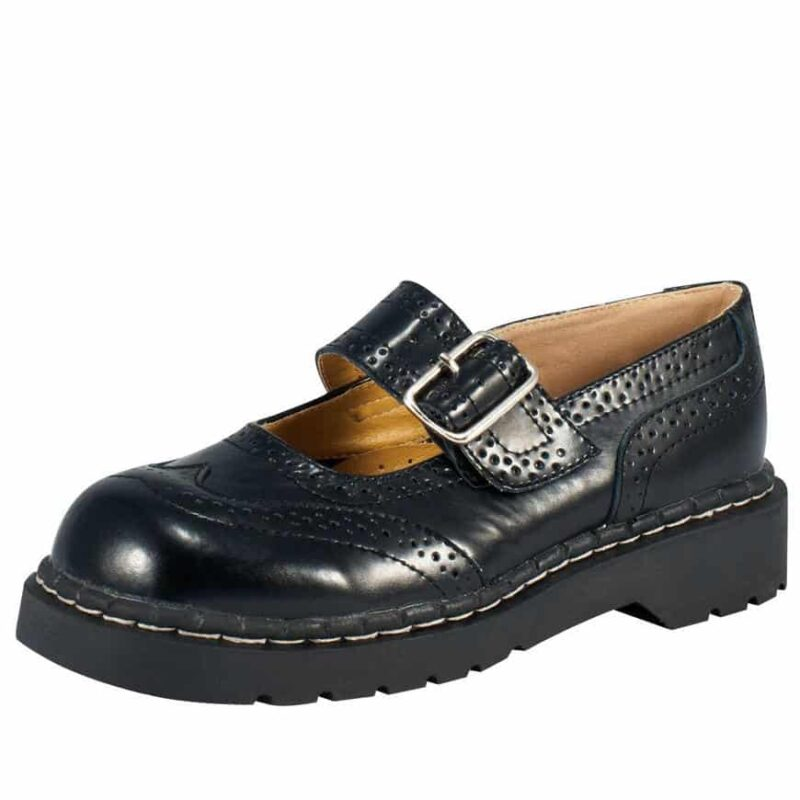 TUK Black Brogue Mary Jane T1002