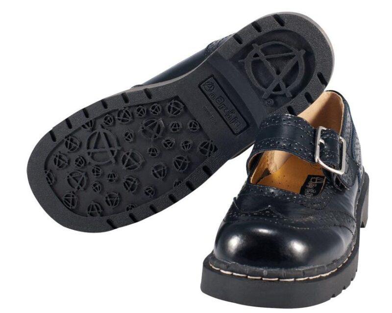 TUK Black Brogue Mary Jane T1002 1