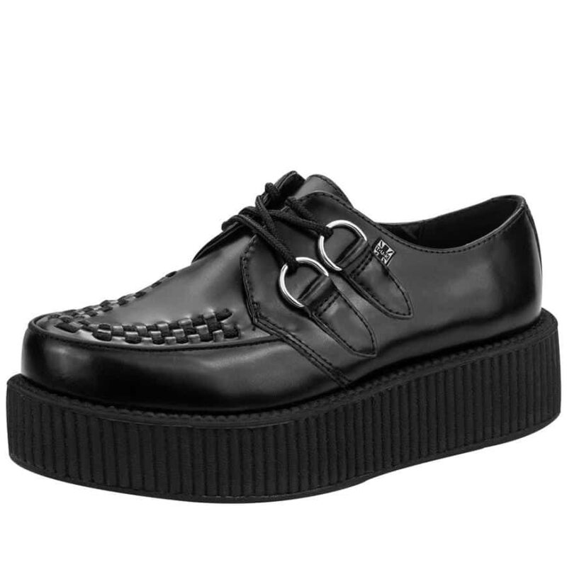 TUK Black Leather Mondo Creeper V6802