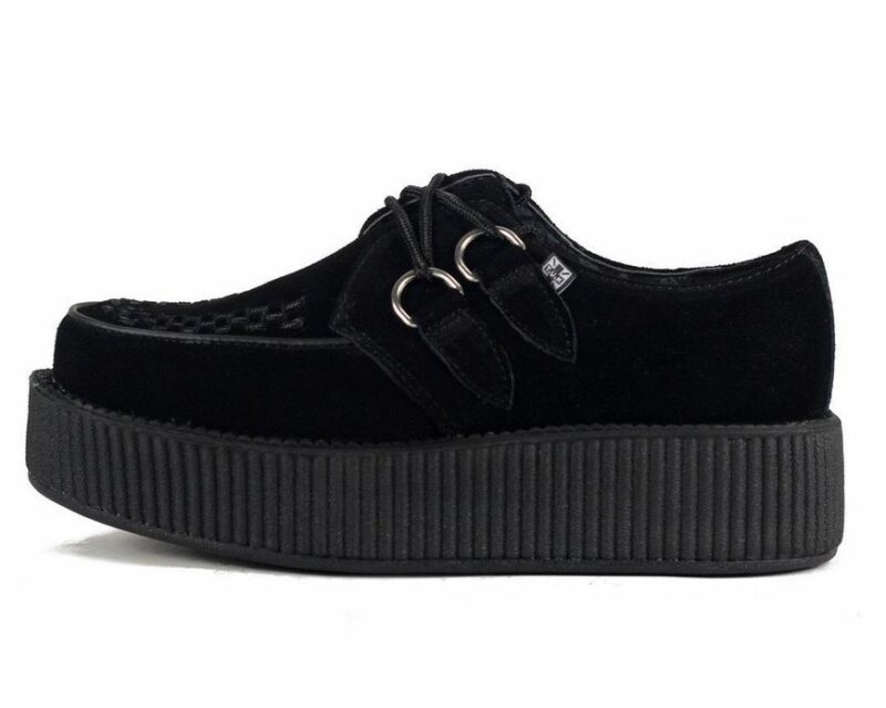 TUK Black Suede Mondo Creeper V7757 1