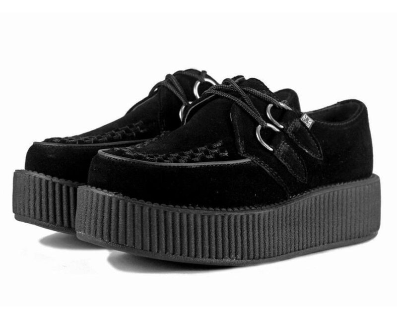 TUK Black Suede Mondo Creeper V7757 2