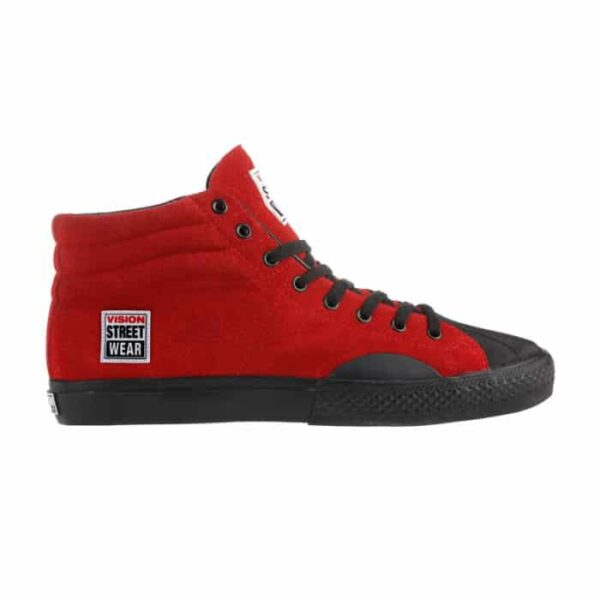 Vision Street Wear Red Suede High Top