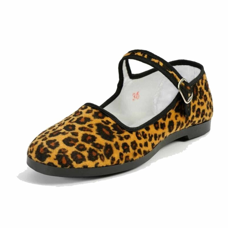Pandamerica Mary Jane Faux Leopard