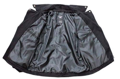 Black Denim Belted Biker Jacket 2