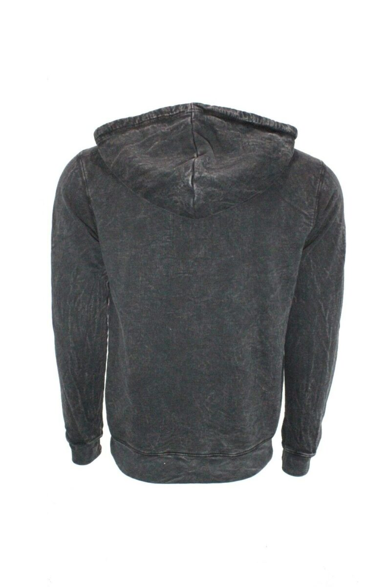 Black Organic Cotton Hoodie Full-Zip 1