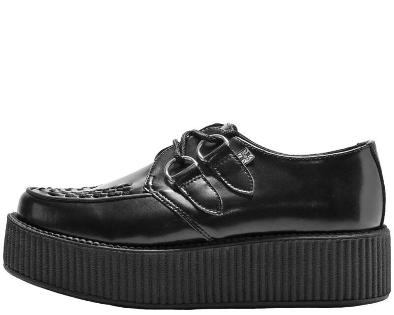 TUK Black Leather Mondo Creeper V6802 1