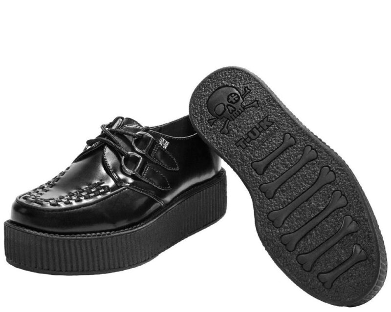 TUK Black Leather Mondo Creeper V6802 2