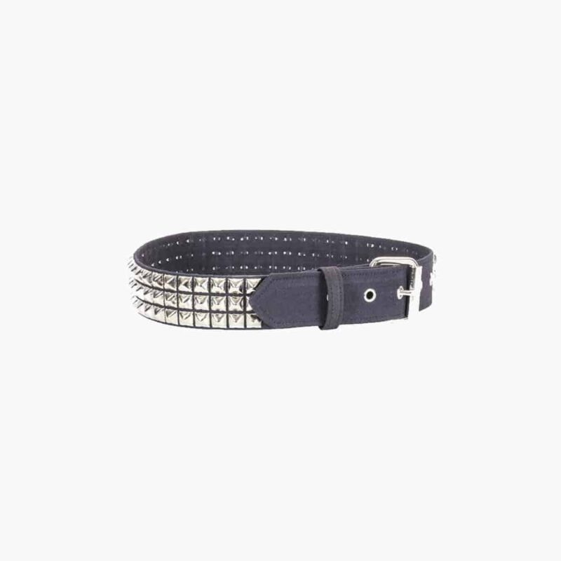 Leather Watchband w/Pyramid Studs 2
