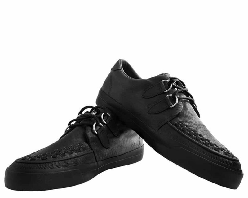 TUK Black Wax Canvas Sneaker Creeper A9363 2