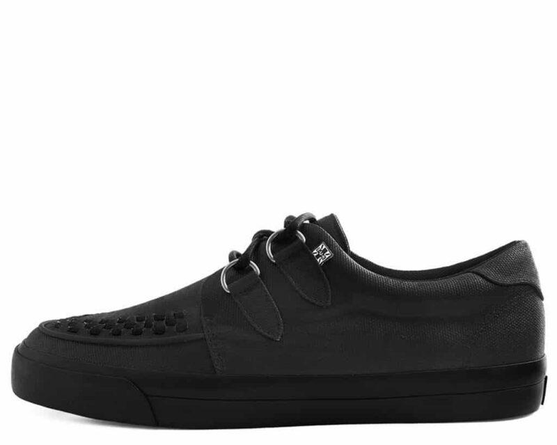 TUK Black Wax Canvas Sneaker Creeper A9363 1