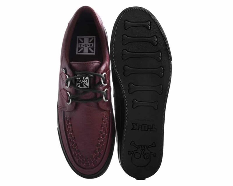 TUK Burgundy Wax Canvas Sneaker Creeper A9364 3