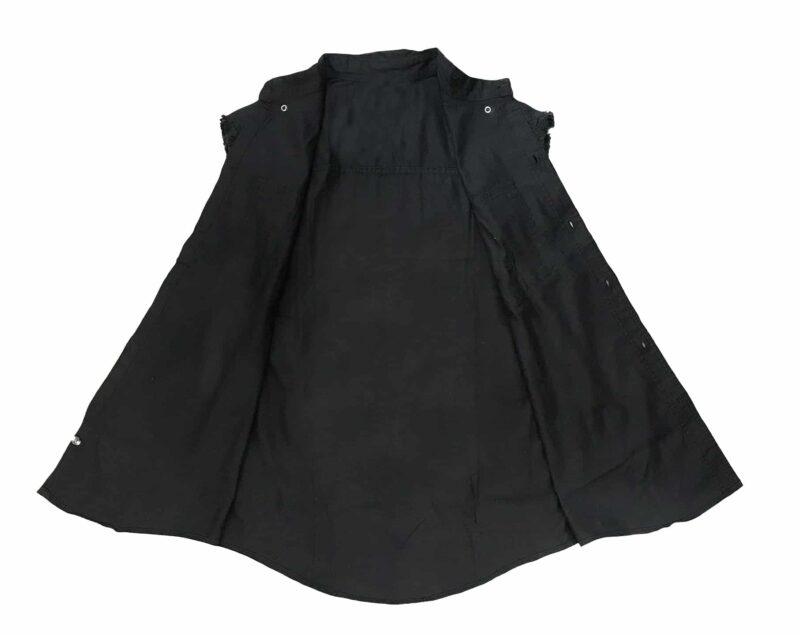 Black Denim Cutoff Shirt by Milwaukee Leather 1