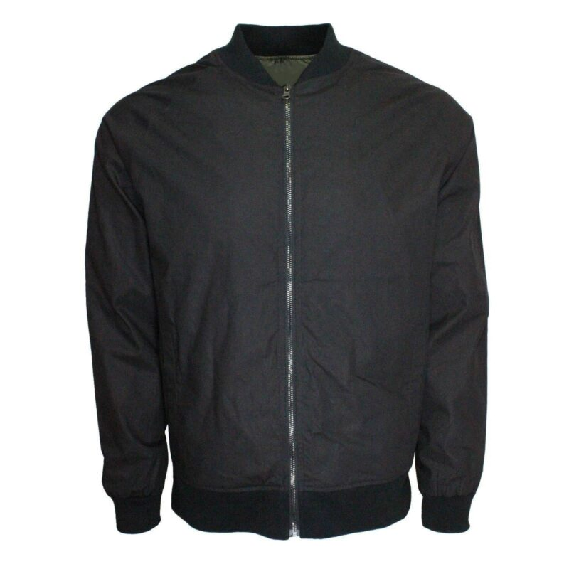 Black Harrington Bomber Jacket