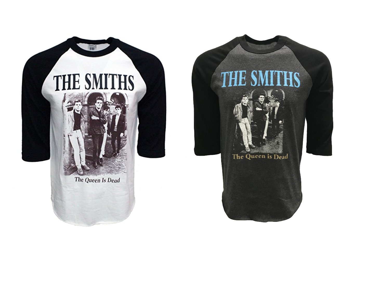 a3fb1c60 The Smiths Band The Queen is Dead Raglan Baseball Tee - Red Zone Shop