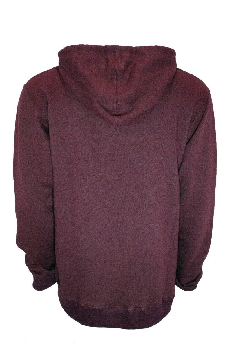 Burgundy French Terry Zip Hoodie 1