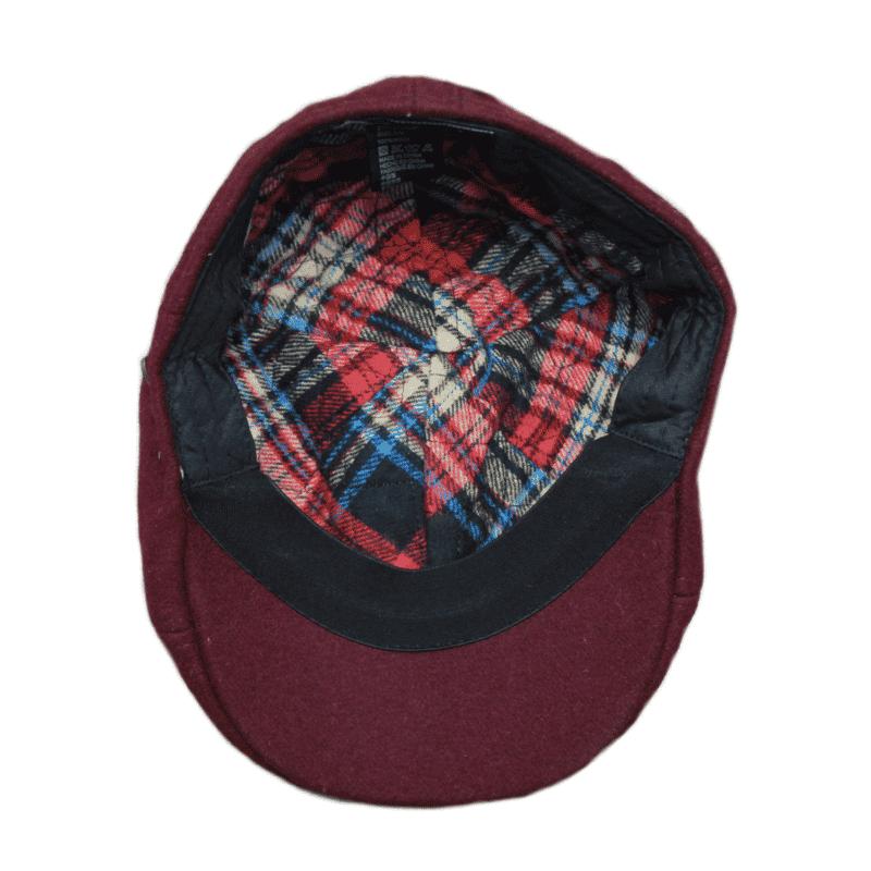 Burgundy Ivy Hat 1