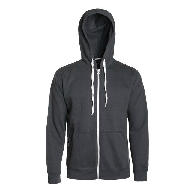 Charcoal French Terry Zip Hoodie