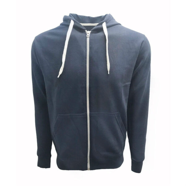 Navy French Terry Zip Hoodie