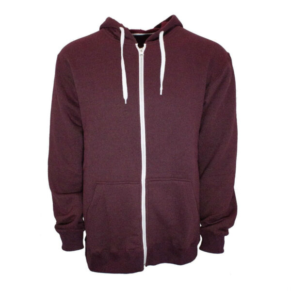 Burgundy French Terry Zip Hoodie